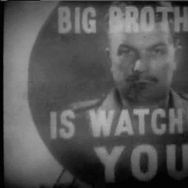 A scene from BBC's 1954 film adaptation of Orwell's dystopian novel 1984.