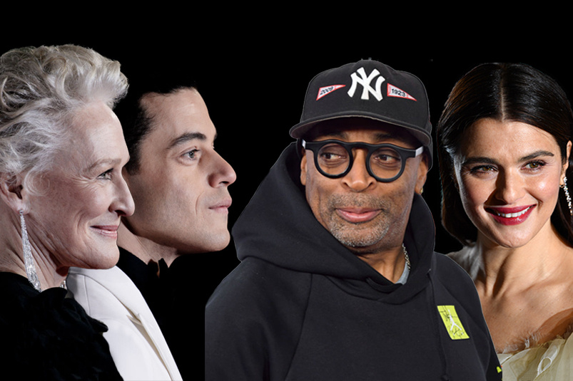 2019 Academy Award nominees Glenn Close, Rami Malek, Spike Lee and Rachel Weisz.