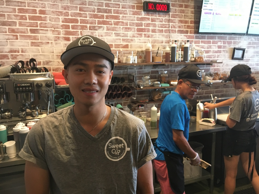 Sweet Cup owner Kenny Tran