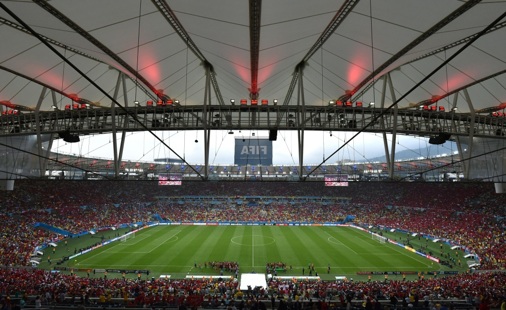 A general view shows the Maracana Stadium in Rio de Janeiro prior to a Group B football match between Spain and Chile during the 2014 FIFA World Cup on June 18, 2014.