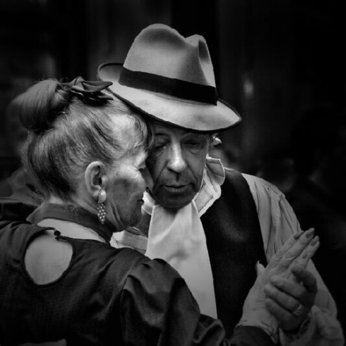 Jombart's winning photo in our contest with Instagram Lovers Anonymous. The older couple is dancing the tango in the San Telmo neighborhood of Buenos Aires.