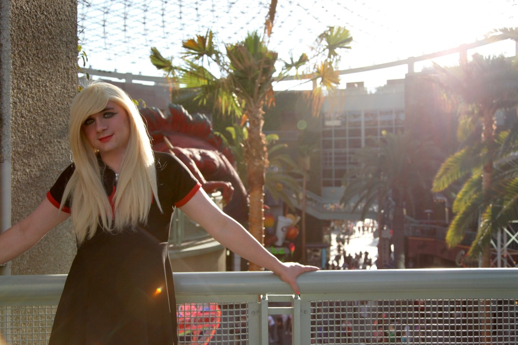 Comedian Joan Ford scoping out her post-apocalyptic hideout of choice a.k.a. Universal CityWalk