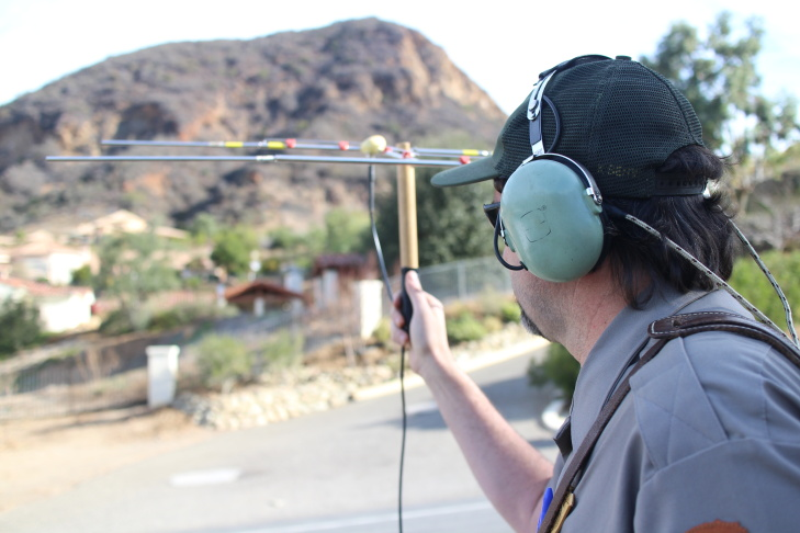 Seth Riley, a wildlife ecologist with the National Park Service, tracks mountain lions in the Santa Monica Mountains.