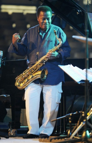 Saxophonist Wayne Shorter performs with