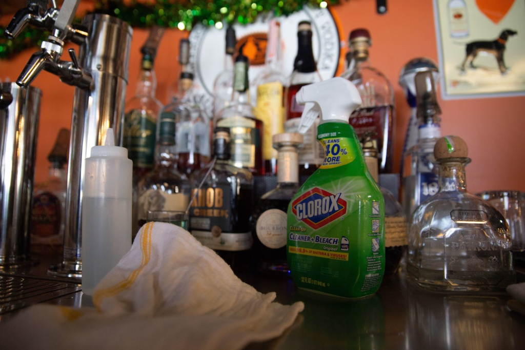 Hairless Hare Brewery in Vandalia, Ohio., before Gov. Mike DeWine ordered a mandatory shutdown of all bars and restaurants starting at 9 p.m. on Sunday.