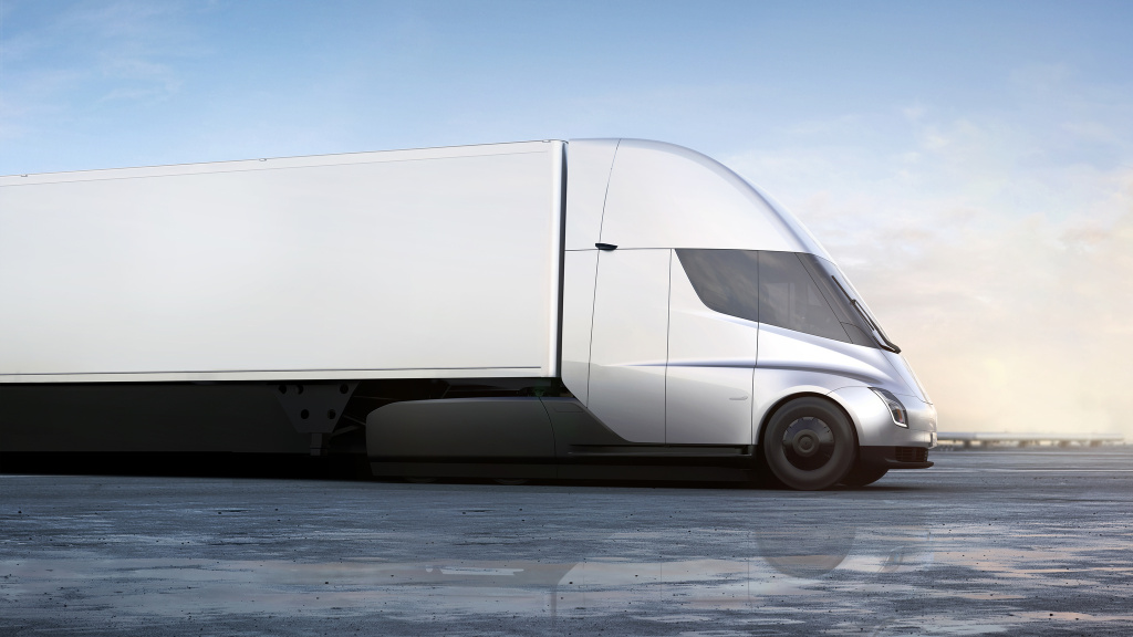 The Tesla Semi can travel 500 miles per charge and has a 0 to 60 mph acceleration time of 5 seconds, according to Tesla CEO Elon Musk.