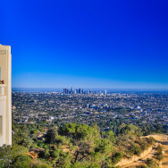 Los Angeles skyline city observatory griffith view