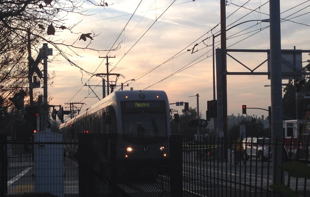 A man was stabbed in the face and body at the Metro Gold Line Fillmore Station in Pasadena early Thursday morning.