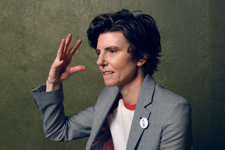 Tig Notaro and her girlfriend, Stephane Allynne, pose for a selfie in the documentary,