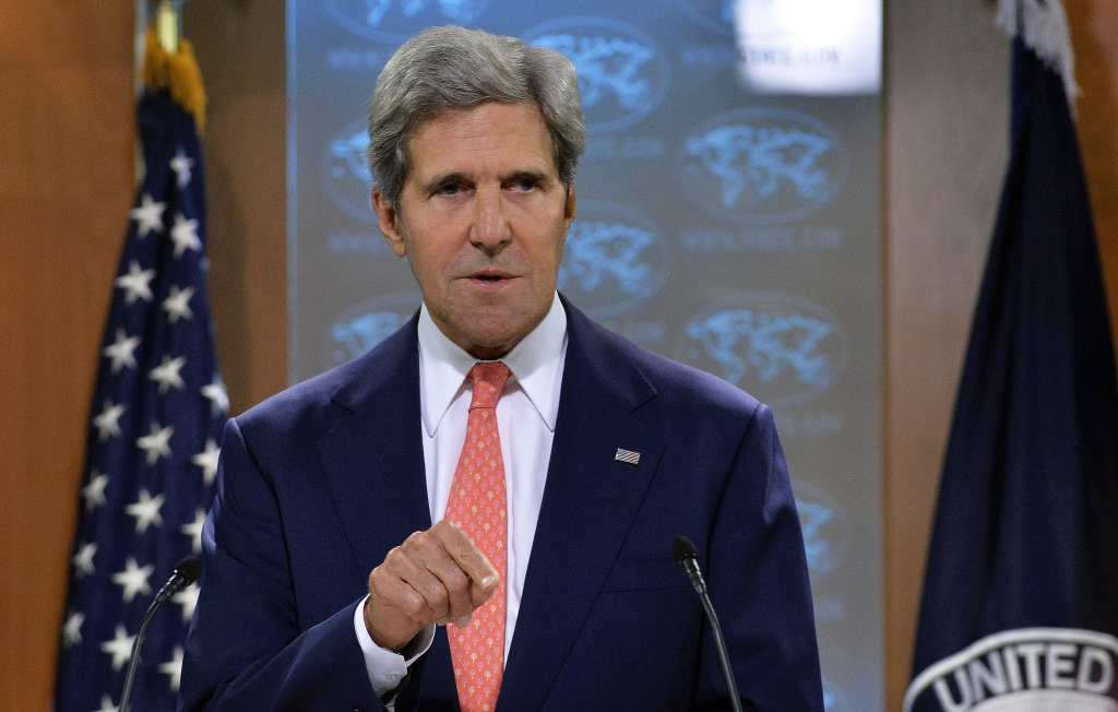Secretary of State John Kerry speaks on Syria at the State Department in Washington, D.C, on Monday.