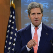 Secretary of State John Kerry speaks on Syria at the State Department in Washington, D.C.