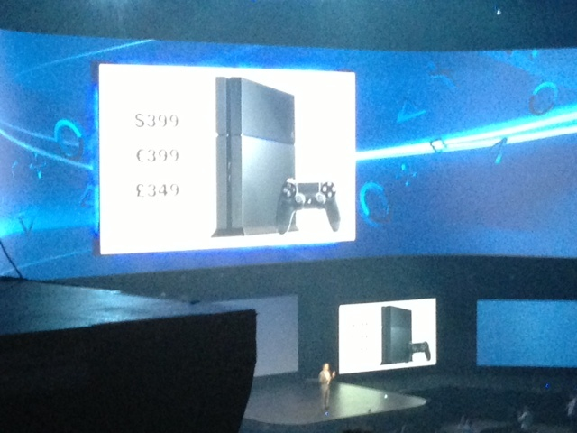Sony announced at E3 it will sell the Playstation 4 for $399, $100 less than the Xbox One.