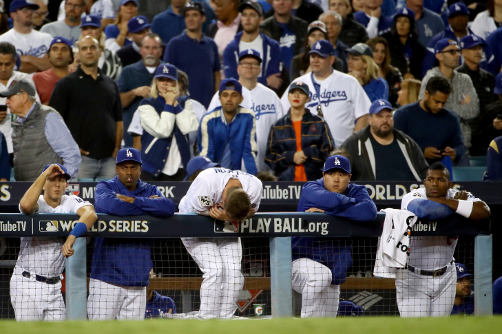 「los angeles dodgers world series lose」的圖片搜尋結果
