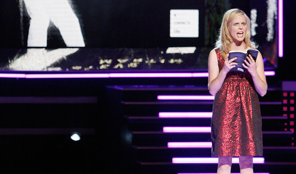 Comedian Maria Bamford appears on-stage during Bravo Network's 2nd Annual A-List Awards at the Orpheum Theatre on April 5, 2009 in Los Angeles.