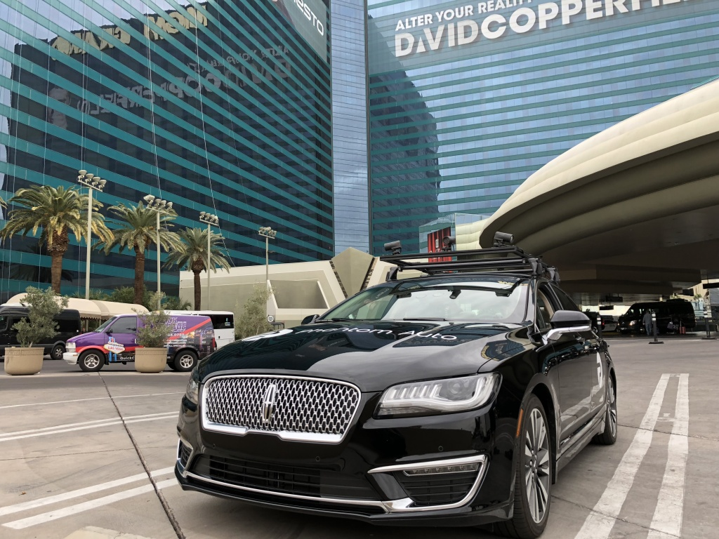 Phantom Auto demonstrated its remote human control system for driverless cars at the Consumer Electronics Show in Las Vegas.