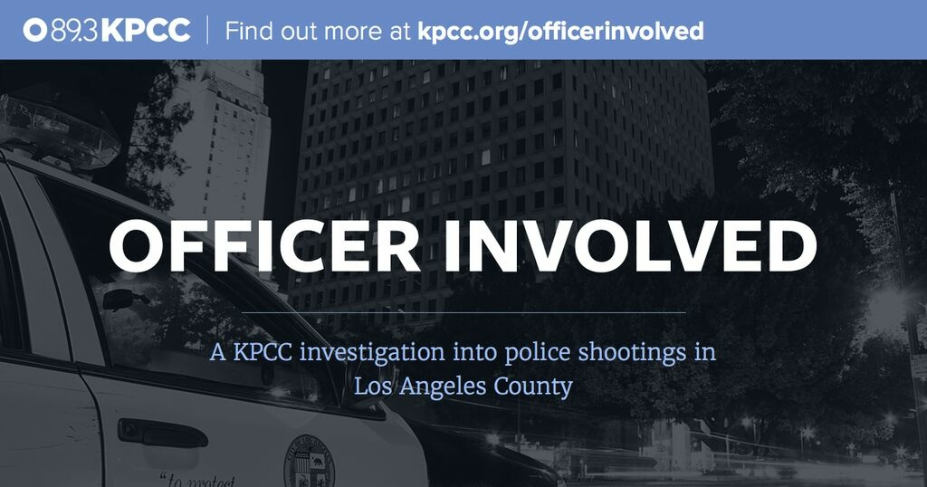 Officer Involved, a KPCC investigation, named a 2015 Scripps Howard Awards finalist.