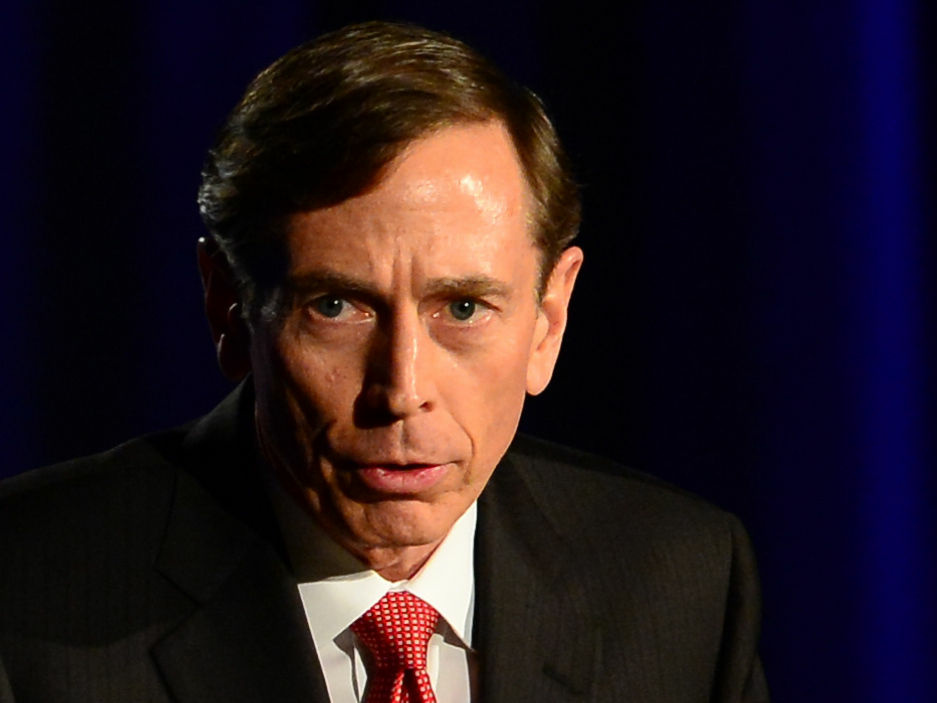 Former CIA director and retired Gen. David Petraeus during a recent address at the University of Southern California, where he has joined the faculty.