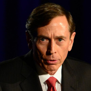 Former CIA director and retired Gen. David Petraeus during his address Tuesday at the University of Southern California.