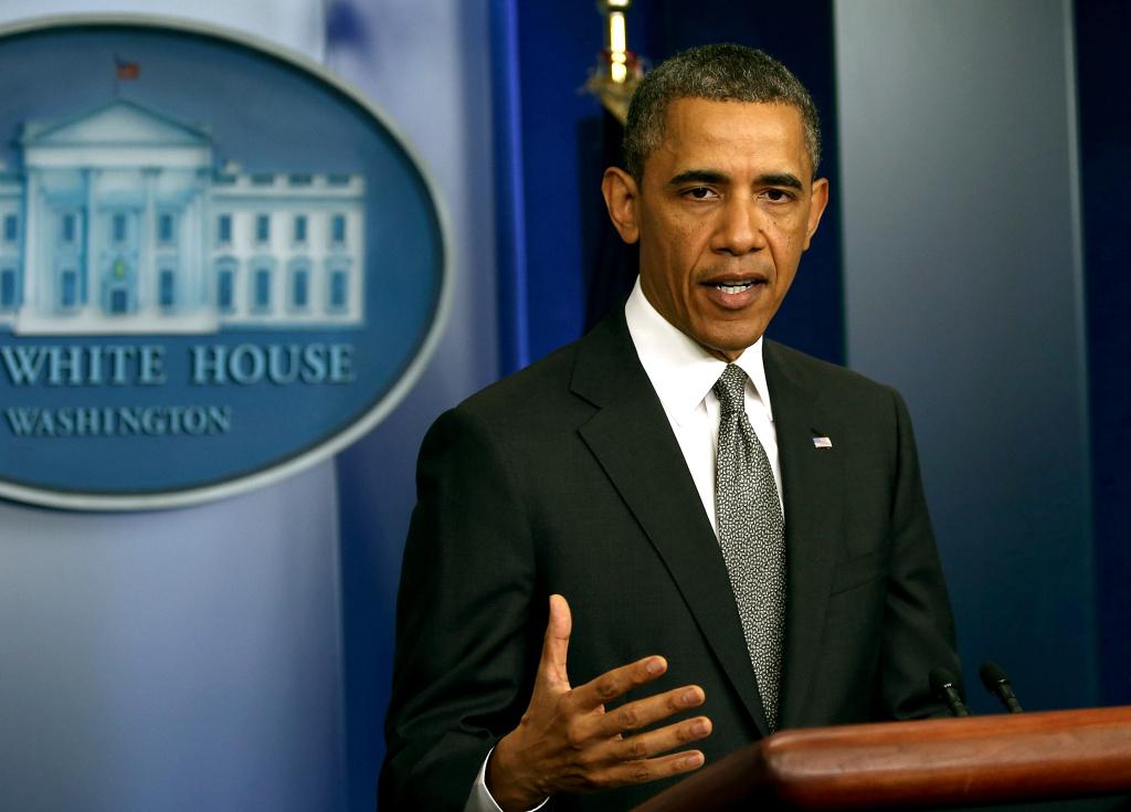 U.S. President Barack Obama makes a statement about Monday's bombing at the Boston Marathon, at the White House on April 16, 2013 in Washington, DC.