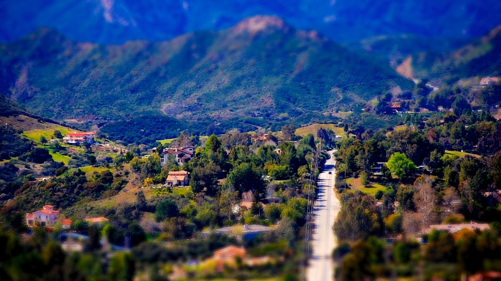 A view of Calabasas from the Red Rock Canyon Park hike in the Santa Monica Mountains.