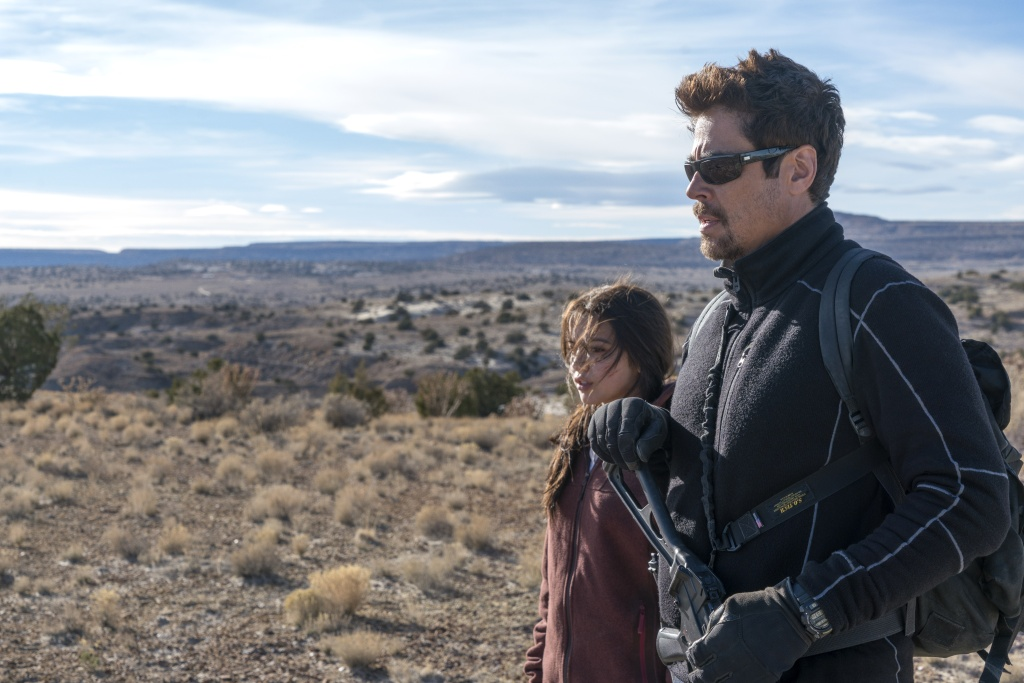 Benicio Del Toro and Isabela Moner in Columbia Pictures' SICARIO: Day of the Soldado