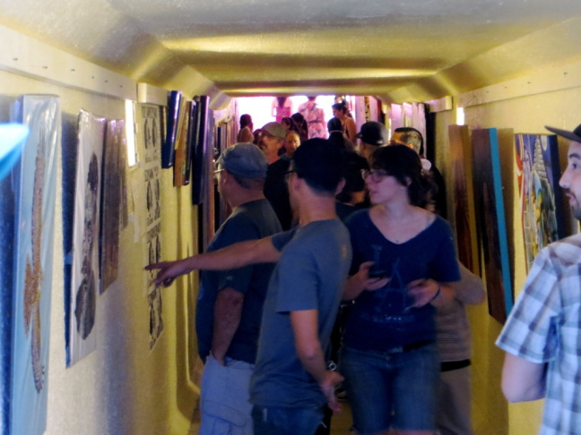 The Cypress Village Tunnel Art Walk opened on May 11. It provides 200 feet for art to be displayed during once a month shows that offer different themes, music, food, and community.