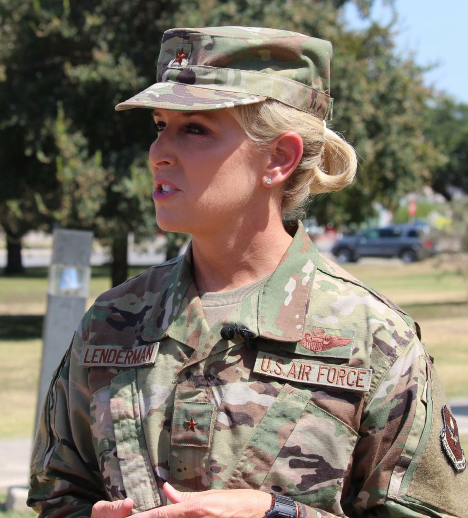 Brig. Gen. Laura Lenderman, the commander of the 502nd Air Base Wing, says her job is to 'rebuild trust' after airmen complained about a serious mold problem in the dorms.