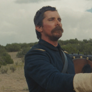 "Christian Bale and Wes Studi in ""Hostiles."""
