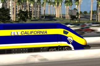 An artist's rendering of California's high speed rail.