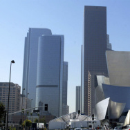 The Disney Concert Hall and Downtown Los Angeles