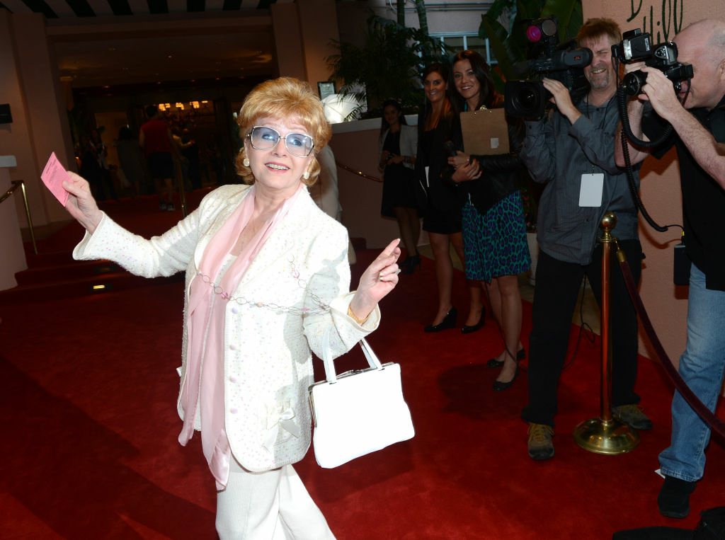 Actress Debbie Reynolds attends the 100th anniversary celebration of the Beverly Hills Hotel & Bungalows supporting the Motion Picture & Television Fund and the American Comedy Fund hosted by Brett Ratner and Warren Beatty at Beverly Hills Hotel on June 16, 2012 in Beverly Hills.