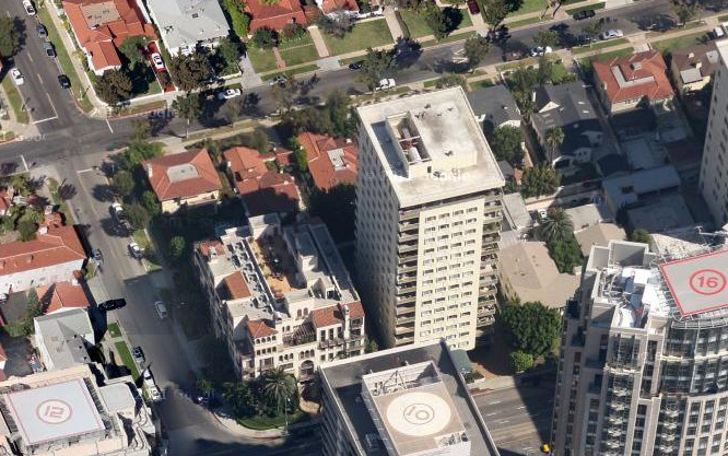 Screenshot: Near Malcolm and Wilshire Blvd in Westwood via Google Maps