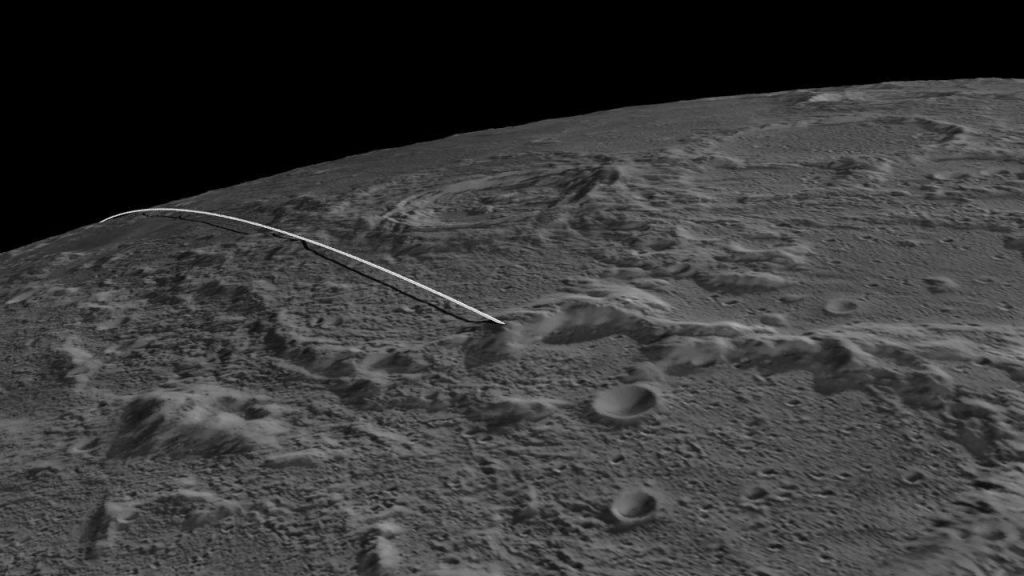 This still image and animation shows the final flight path for NASA's twin Gravity Recovery and Interior Laboratory (GRAIL) mission spacecraft. Known as Ebb and Flow, they are scheduled to imapct impact the moon on Dec. 17, 2012, around 2:28 p.m. PST.