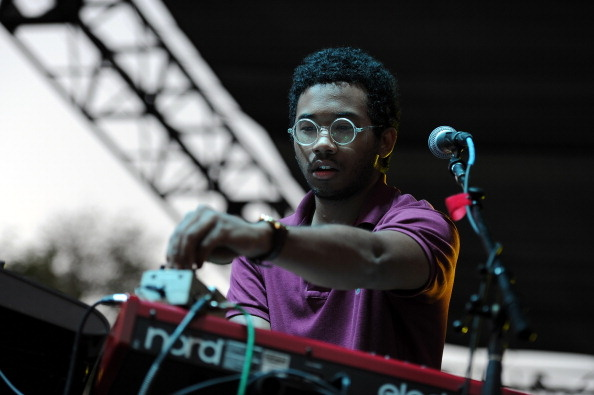 Toro Y Moi performs on Day Two of the Coachella Music Festival.