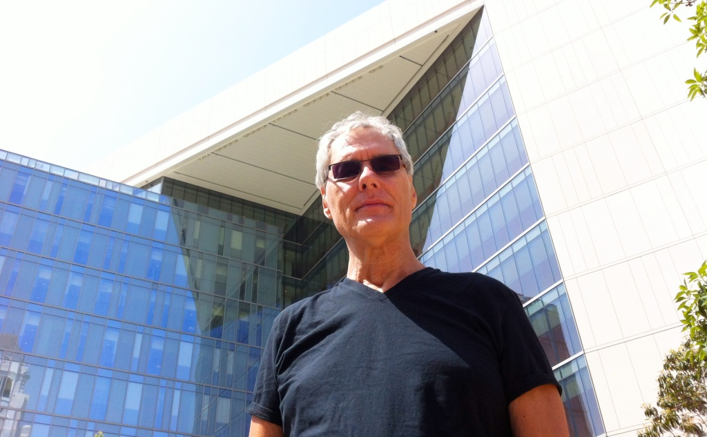 Journalist and historian Joe Domanick at the new LAPD headquarters in downtown Los Angeles.