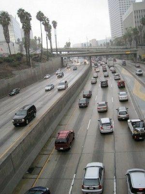 The 110 Freeway in Los Angeles, November 2010