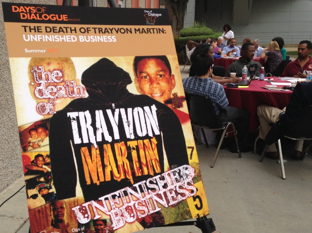 About 150 people discussed the Trayvon Martin killing at a