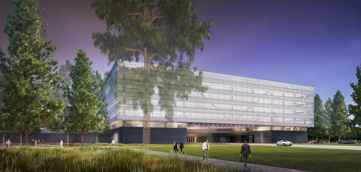 Construction continues on Hyundai's new U.S. headquarters in Fountain Valley. The 500,000 square foot building will be completed by the end of the year.