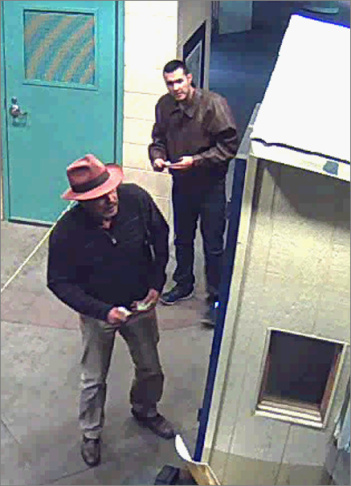 Surveillance photo of Victor Solis and Henry Solis crossing into Juarez, Chihuahua, Mexico from El Paso, Texas on 3/14/15 at approximately 5:40 a.m.