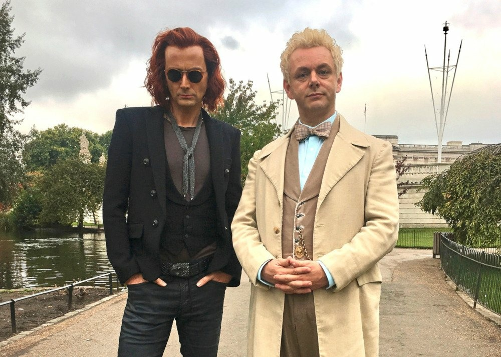 David Tennant, left, and Michael Sheen star in Amazon's