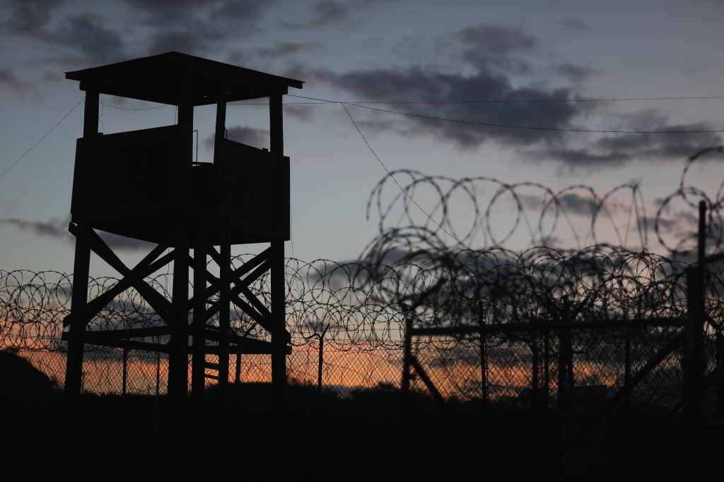 A watch tower is seen in the currently closed Camp X-Ray which was the first detention facility to hold 'enemy combatants' at the U.S. Naval Station on June 27, 2013 in Guantanamo Bay, Cuba.