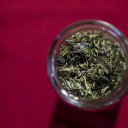 A bowl with marijuana leaves during a worshop on cannabis cookery given by Argentine chef Natalia Revelant for people interested in medicinal cuisine in Santiago, on May 24, 2017.