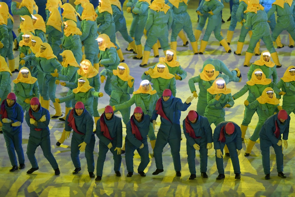 Artists perform during the Opening Ceremony of the Pyeongchang 2018 Winter Olympics on February 9, 2018.
