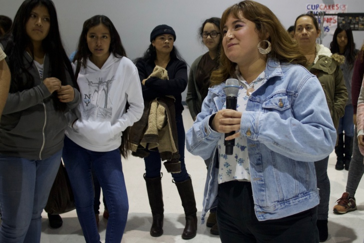 Student body president Cristal Trujillo helped to organize an event to help students at Esteban Torres High School express themselves and de-stress after the election.