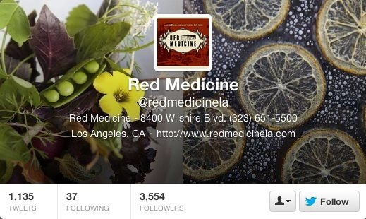 Screenshot of Red Medicine's Twitter page.