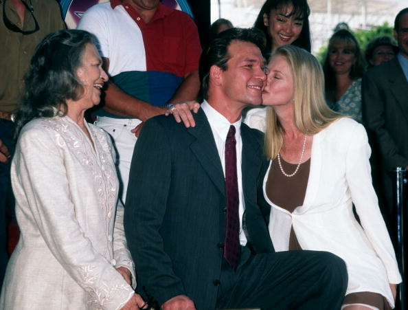 File: Actor Patrick Swayze, wife Lisa Niemi and mother attend Patrick Swayze Receives Hollywood Walk-of-Fame Star on August 18, 1997 at the Hollywood Walk of Fame in Hollywood, California.