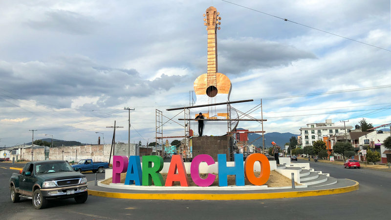 The town of Paracho, in the western Mexican state of Michoacán, has a long history of guitar making dating back to the 18th century. The guitar featured in