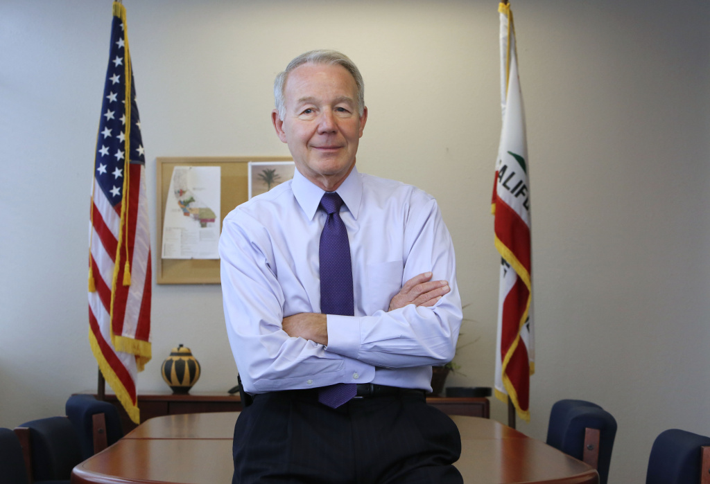 In this photo taken Friday, Jan. 25, 2013, Jeffrey Beard, the new director of the California Department of Corrections and Rehabilitation discusses California's prison system during an interview with the Associated Press in Sacramento, Calif.
