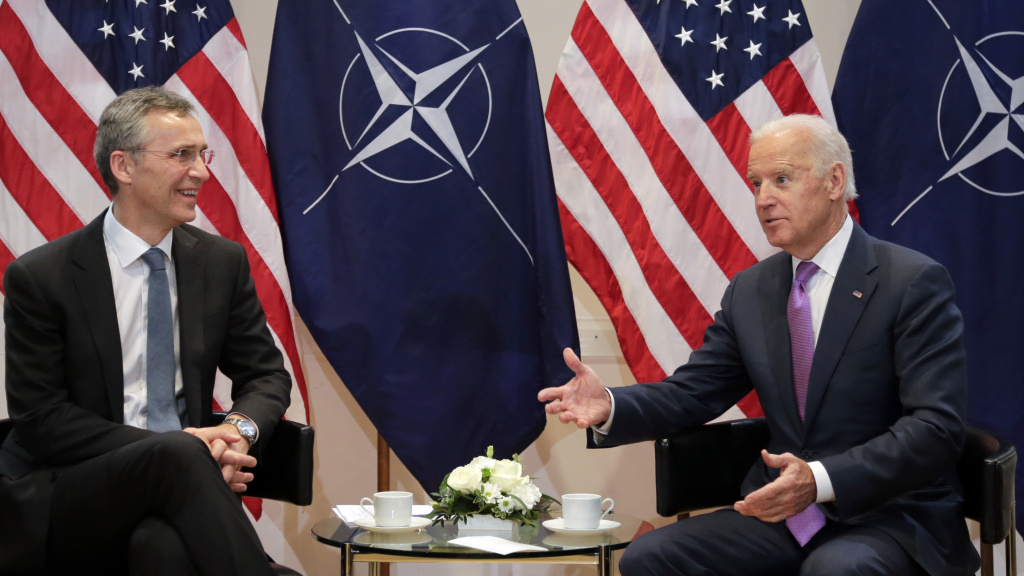 Joe Biden meets with NATO Secretary-General Jens Stoltenberg in Munich in 2015. Relations will no doubt be far more cordial under Biden, but Europe and the U.S. have differences that transcend the Trump administration.