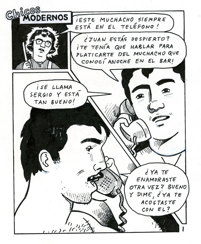 A panel from the comic